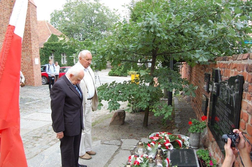 Uroczystość przy Krzyżu Katyńskim