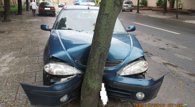 Uderzył w przydrożne drzewo