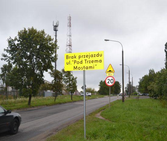 Zamknięta ul. Pod Trzema Mostami