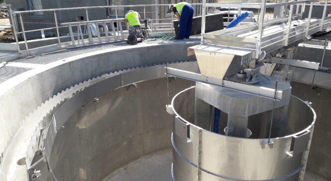 Trwają prace przy rozbudowie oczyszczalni w Kłecku